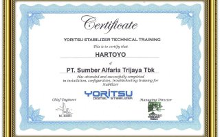 Certificate training yoritsu photo 1